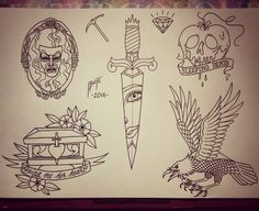 let's finish this one another day @gewoonjas #flash #tattoo #art #drawing #ink #inked #flashtattoo #flashsheet #traditional #traditionaltattoo #traditionalflash #neotraditional #linework #disney #disneytattoo #disneyflash #snowwhite #snowwhitetattoo #dagger #daggertattoo #mirror #mirrormirror #raven #raventattoo #poisonapple #painting #tattoos