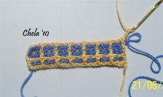 Un poquito de todo (AIRESDEAYER): Intermeshing crochet o interlocking filet.