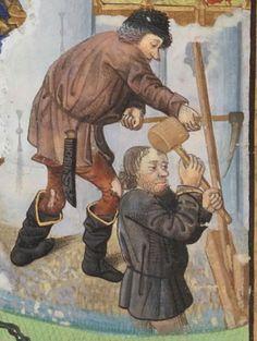 Compillation des Cronicques et ystores des Bretons, partie en III livretz, » par Pierre LE BAUT, secrétaire de Jean, sire de Derval. Date d'édition : 1401-1500 Français 8266 Folio 7r