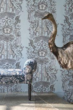 Breathtaking wallpaper pattern called Kruger by Emma J Shipley for Clarke & Clarke.