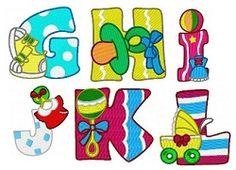 Baby Alphabet Set - 4x4   Alphabets   Machine Embroidery Designs   SWAKembroidery.com