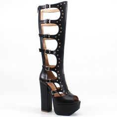 You will make someone's holiday if you buy her ON MY WATCH by Luichiny!  One of our hottest shoes this season! #luichiny #hot #gladiator #holidaygift #shoes #boot #platform #heels