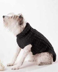 Crocheted dog coat