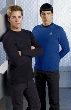 Chris Pine and Zachary Quinto in Star Trek (2009)