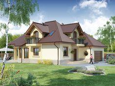 Projekat atraktivne kuće s potkrovljem i garažom – Svetonius Beautiful Home Designs, Beautiful Homes, Design Case, Little Houses, Small Houses, Home Fashion, Decoration, Future House, Luxury Homes