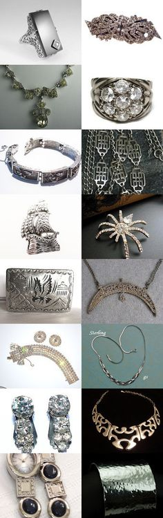 Shades Of Silver VJT SOTW Honoring JaesVintageJewelry by Marirose on Etsy--Pinned with TreasuryPin.com