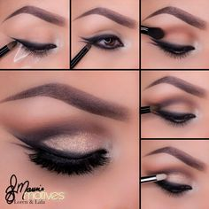Are you ready to try a new look? Check out this beautiful smudged double winged liner tutorial by Ely Marino using Motives #Mavens Element Palette! http://www.net2cosmetics.com/smudged-double-winged-liner-tutorial/