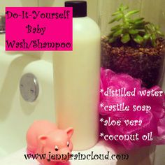 Homemade Baby Wash/Shampoo - check it out == http://naturehacks.com/beauty/homemade-baby-washshampoo/