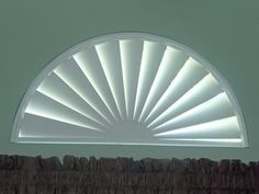 Awesome half circle window covering.