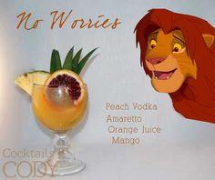 Absolut Vodka, Cocktail Disney, Disney Cocktails, Disney Alcoholic Drinks, Mango Cocktail, Cocktail Drinks, Cocktail Recipes, Cocktail Night, Sweets