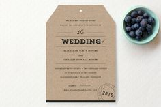 Wedding is larger than the names...or at least the names should be bigger I think. ?  Farm to Table Wedding Invitations by Sara Hicks Malone at minted.com