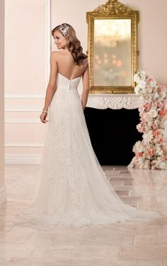 Wedding Dresses Lace Champagne 6286 Lace Over Satin Fit and Flare Wedding Dress by Stella York.Wedding Dresses Lace Champagne 6286 Lace Over Satin Fit and Flare Wedding Dress by Stella York Lace Wedding Dress, Fit And Flare Wedding Dress, 2016 Wedding Dresses, Bohemian Wedding Dresses, Tulle Wedding, Designer Wedding Dresses, Bridal Dresses, Bridesmaid Dresses, Dream Wedding