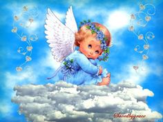 Cute Baby Angel in Heaven Cemetery Records, Loved One In Heaven, Angel Wallpaper, Angel Pictures, Hug Pictures, Angels Among Us, Infant Loss, Angels In Heaven, Guardian Angels