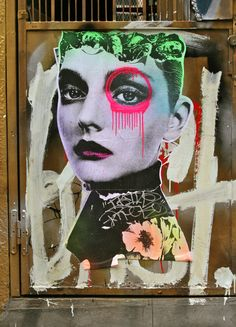 This work, photographed in Soho, is by the much buzzed about Brooklyn artist, Dain.