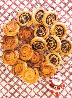 Pets-de-Soeur (Sweet Puff Pastry Pinwheels) (2 versions)