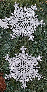shimmering lace crocheted snowflake by Cheri Mancini