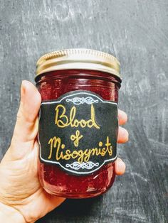 Blood of a Misogynist Candle by TheFeministCandleCo on Etsy