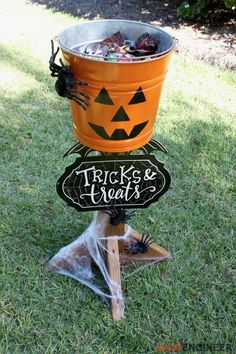 DIY Halloween Candy Stand | Try making this awesome project for handing out candy on Halloween night!