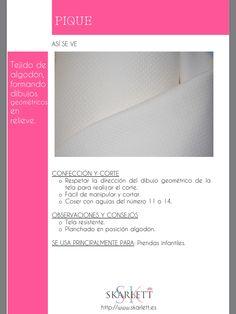 El dossier de las telas Skarlett Fashion Sewing, Fashion Fabric, Sewing Hacks, Sewing Projects, Sewing School, Fashion Dictionary, Fashion Vocabulary, Textile Texture, Clothing Hacks