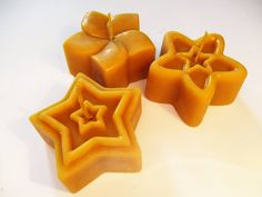 Star and Flower Beeswax Candles by Helviriitta.deviantart.com on @DeviantArt