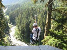 zip lining Whistler BC