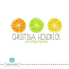 I wouldn't describe this logo as successful. The typography is difficult to read due to the colour and Italic slant.  The three citrus fruit do not represent photography in any way, unless she is specifically a food photographer?