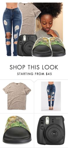 """""""Untitled #391"""" by gabb-slayy ❤ liked on Polyvore featuring Dr. Martens, Gucci and Fujifilm"""