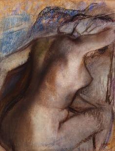 Edgar DEGAS, Après le bain, femme s'essuyant vers 1884-1886, repris entre 1890 et 1900, pastel sur papier vélin, 40,5 x 32 cm © MuMa Le Havre / Florian Kleinefenn