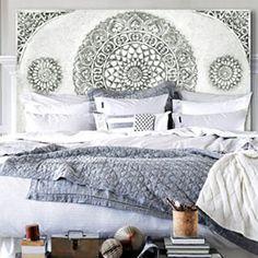 cabecero para cama, perfecto y original cabecero diseño delier, representacion de un mandala mira mas modelos en tienda cabeceros