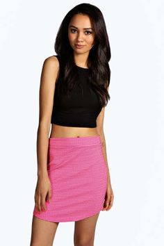 Maisy Curved Hem Jacquard Mini Skirt. Get sizzling discounts up to 60% Off at Boohoo using Coupon & Promo Codes.