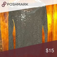 💕SALE💕 Black lace top This top is from Moda International. This is a nice formal top or a date top. Make an offer! Moda International Tops Tees - Long Sleeve
