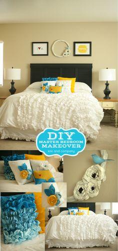 DIY Master Bedroom Makeover by Kiki and Company