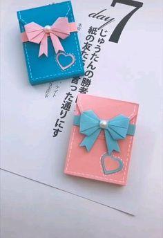 Diy Crafts Hacks, Diy Crafts For Gifts, Creative Crafts, Diy Craft Projects, Cool Paper Crafts, Paper Crafts Origami, Instruções Origami, Diy Origami Cards, Diy Art