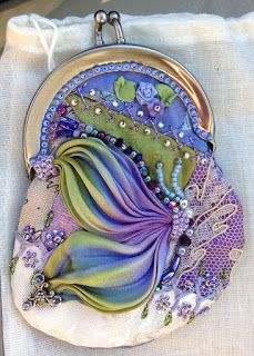 Wonderful Ribbon Embroidery Flowers by Hand Ideas. Enchanting Ribbon Embroidery Flowers by Hand Ideas. Beaded Purses, Beaded Bags, Beaded Necklaces, Silk Ribbon Embroidery, Embroidery Patterns, Embroidery Supplies, Embroidery Stitches, Quilt Patterns, Quilting Templates