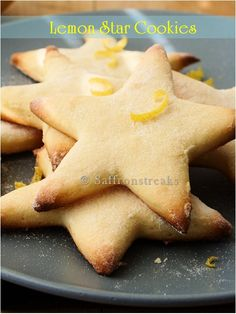 Summer lemon star cookies very crunchy, crispy and light. These cookies are full of lemon flavor with rich buttery bite.