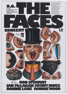 The Faces Concert Poster