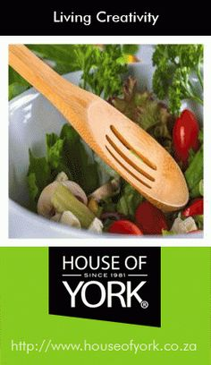 Bamboo Slotted Spoon - this lovely product is made from the eco-friendly bamboo plant and is perfect for salads. Available at House of York from only House Of York, Bamboo Products, Bamboo Plants, Utensils, Decorative Items, Spoon, Eco Friendly, Salads, Tableware