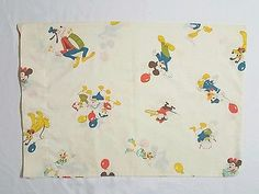 Vintage Mickey Mouse & Friends Baby Pillow Case Infant Child Travel Cover