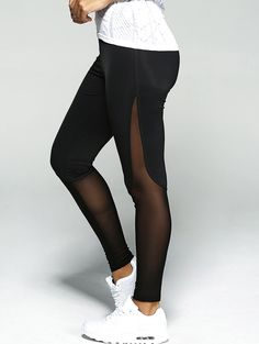 Only $12.46 for See-Through Patched Sport Leggings
