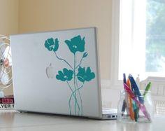 Laptop Vinyl Decal Poppy Field Graphic 40001