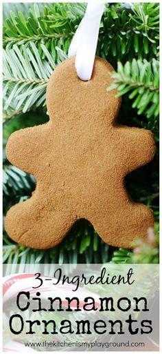 Homemade Christmas Ornaments Dough Cinnamon : Ideas about cinnamon ornaments on