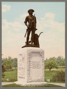 """""""By the rude bridge that arched the flood, Their flag to April's breeze unfurled, Here once the embattled farmers stood, And fired the shot heard 'round the world.""""  The Battle of Lexington & Concord occured 240 years ago, on April 19, 1775"""