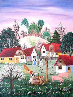 Mariana Mihut Naive Art, Paper Art, November, Artist, Cards, Painting, Mariana, Romania, Christians
