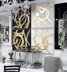 #Productoftheweek comes to you direct from the Las Vegas Market! Our Ballare Hand Painted Canvas Wall Art collection dances across the walls. Available in black or white, use this art to create a magnificent statement across your walls!   #lvmkt #wallart #walldecor #interiordesign #hecinvegas
