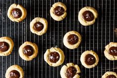 Almond Thumbprint Cookies With Dark Chocolate And Sea Salt | The 50 Best Christmas Cookie Recipes This Season