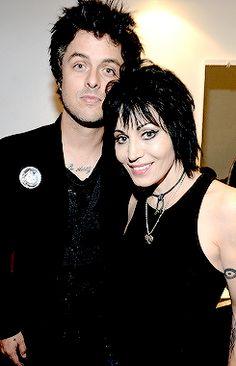Joan Jett (The Runaways, Joan Jett & The Blackhearts) and Billie Joe Armstrong (The Green Day).