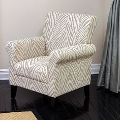 Ad: Neutral zebra accent chair from my eBay sittin' pretty collection! #eBayCollection #FollowItFindIt