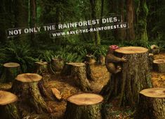 "Save the rainforest ""Blow Up"" (Outdoor) by Jacques Pense, via Behance"