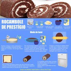 Receita Rocambole de Prestígio Veja mais em nosso blog: http://dicasdacasa.com/rocambole-de-prestigio/
