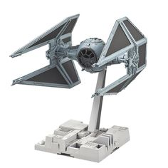 "Bandai Hobby Star Wars 1/72 Tie Interceptor Building Kit | Featured in the Star Wars movie, ""Return of the Jedi"", the infamous TIE Interceptor has been faithfully recreated in 1/72 as a plastic model kit utilizing Bandai trade mark color injection process."